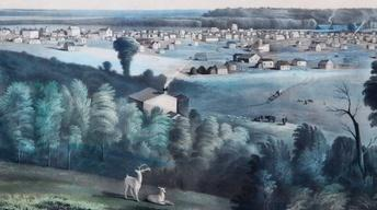 "S15 Ep9: Appraisal: ""View of Des Moines"" Print, ca. 1856"