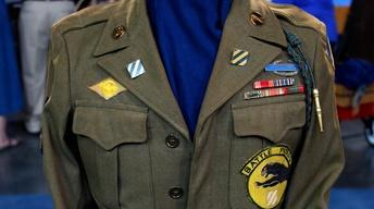 Appraisal: WWII 3rd Infantry Ike Jacket & Fighting Knife,...