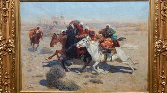 S16: Appraisal: Franz Roubaud Oil Painting, ca. 1885