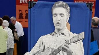"Appraisal: 1956 Elvis ""Love Me Tender"" Standee, from Minneap"