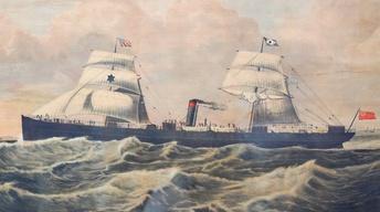 Appraisal: American Ship Print, ca. 1850