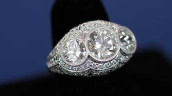 Appraisal: Belle Epoque Diamond Ring, ca. 1915
