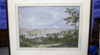 Appraisal: 1851 View of Cleveland Watercolor