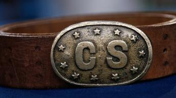 Appraisal: Confederate Belt Buckle with Stars