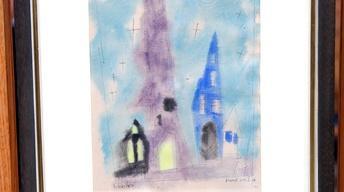 """Appraisal: 1921 Lyonel Feininger Watercolor, """"Silver Stars"""""""