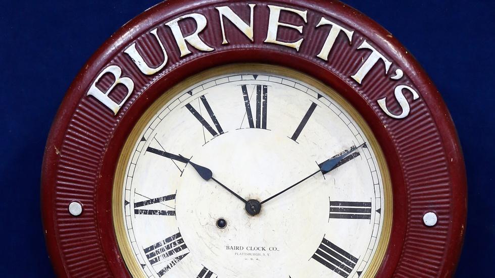 Appraisal: Baird Advertising Clock, ca. 1895 image