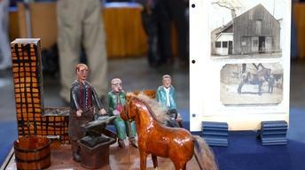 Appraisal: 1939 Folk Art Blacksmith Shop Diorama