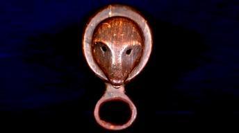 Appraisal: Eskimo Finger-Mask Snuff Container, ca. 1850
