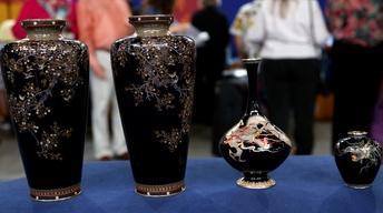Appraisal: Japanese Meiji Cloisonné Vases, ca. 1890