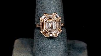 Appraisal: French Art Deco Diamond Ring, ca. 1930