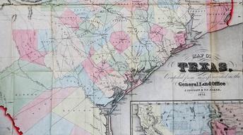 Appraisal: 1852 Texas Pocket Map