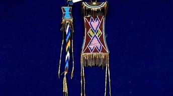 Appraisal: Kiowa Beaded Strike-A-Light & Awl Case