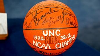 Appraisal: 1982 UNC Signed Basketball