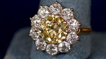 Appraisal: Yellow Diamond Ring, ca. 1905