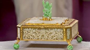 Appraisal: Edward Farmer Jade and Gold Box