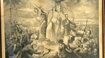 Appraisal: 1865 Civil War Allegory Lithograph