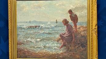 Appraisal: John McGhie Oil Painting, ca. 1915