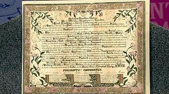 Appraisal: Mormon Certificate of Gratitude