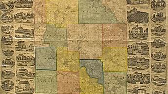 Appraisal: 1869 Linn County Iowa Map