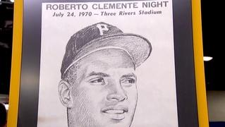 Appraisal: Signed Roberto Clemente Poster, ca. 1970
