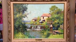 Appraisal: Edouard Cortès Painting, ca. 1950