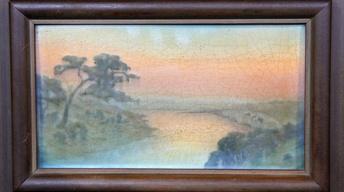 Appraisal: 1916 Rookwood Scenic Vellum Plaque