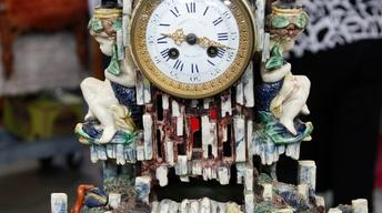 Appraisal: French Palissy Ware Mantel Clock, ca. 1880