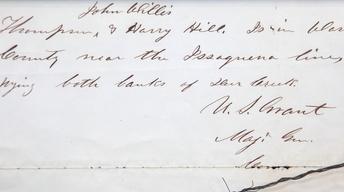 Appraisal: 1863 Ulysses S. Grant Letter
