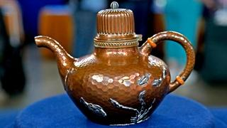 Appraisal: 1886 Gorham Mixed-Metal Teapot