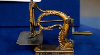 Appraisal: 1855 Sewing Machine Patent Model