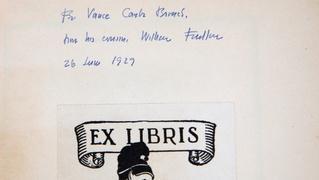 Appraisal: 1929 W. Faulkner Inscribed