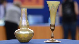 Appraisal: Tiffany Glass Vases