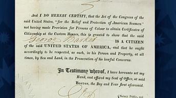 S19 Ep6: Appraisal: 1821 U.S. Citizenship Certificate