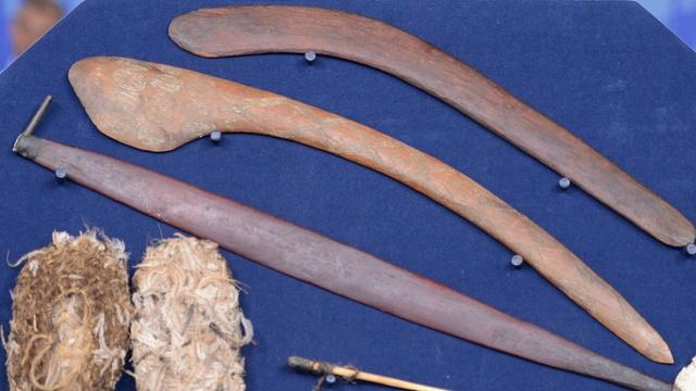 Appraisal: Late 19th-C. Australian Aboriginal Artifacts