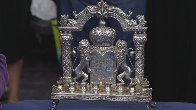 Appraisal: 20th-Century German Silver Hanukkah Menorah