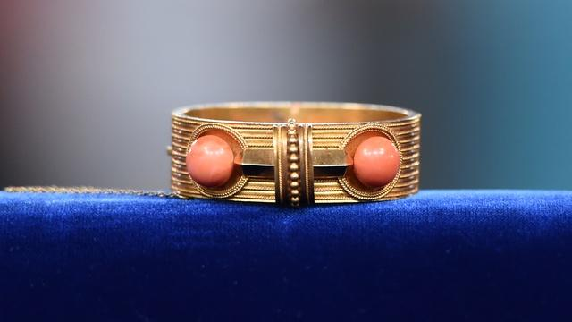 Appraisal: Gold & Coral Bracelet, ca. 1870
