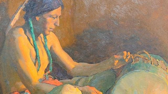 Owner Interview: Eanger Irving Couse Painting, ca. 1930