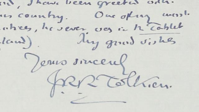 Appraisal: 1957 J.R.R. Tolkien Letter