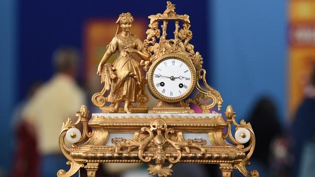 Appraisal: 19th-Century French Figural Clocks