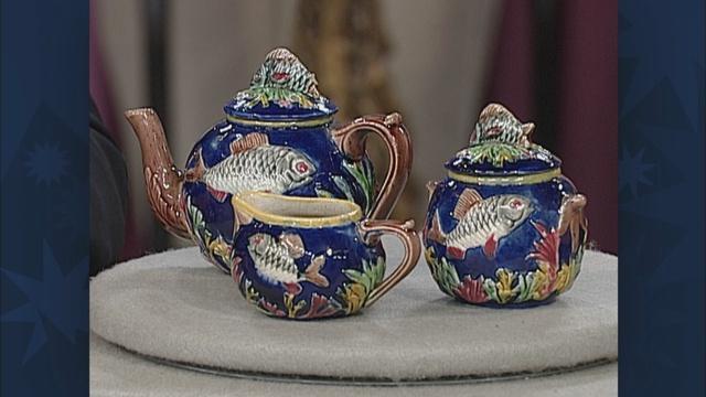 Appraisal: English Majolica Tea Set, ca. 1875