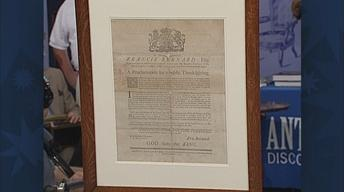 Appraisal: 1763 Thanksgiving Broadside