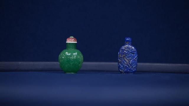 Appraisal: Lapiz Lazuli & Imperial Jade Snuff Bottles