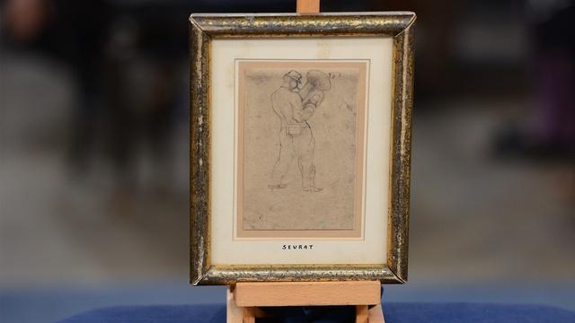 Appraisal: Georges Seurat Drawing, ca. 1875