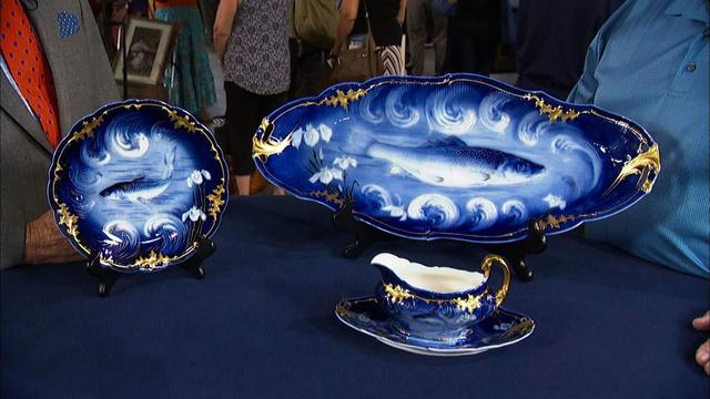 Appraisal: Limoges Porcelain Sauce Boat and Platter, ca. 190