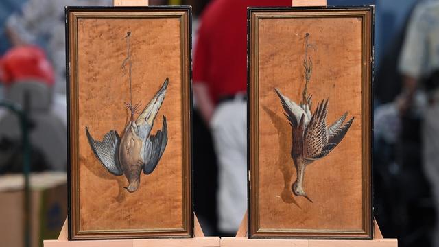 Appraisal: Achille Perelli Trompe L'oeil Oils, ca. 1880