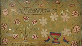 Appraisal: 1852 Pennsylvania Needlework Sampler