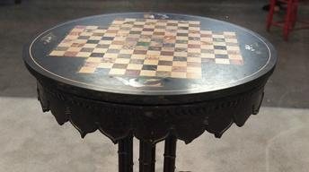 S20 Ep22: Appraisal: 1845 Gothic Revival Games Table