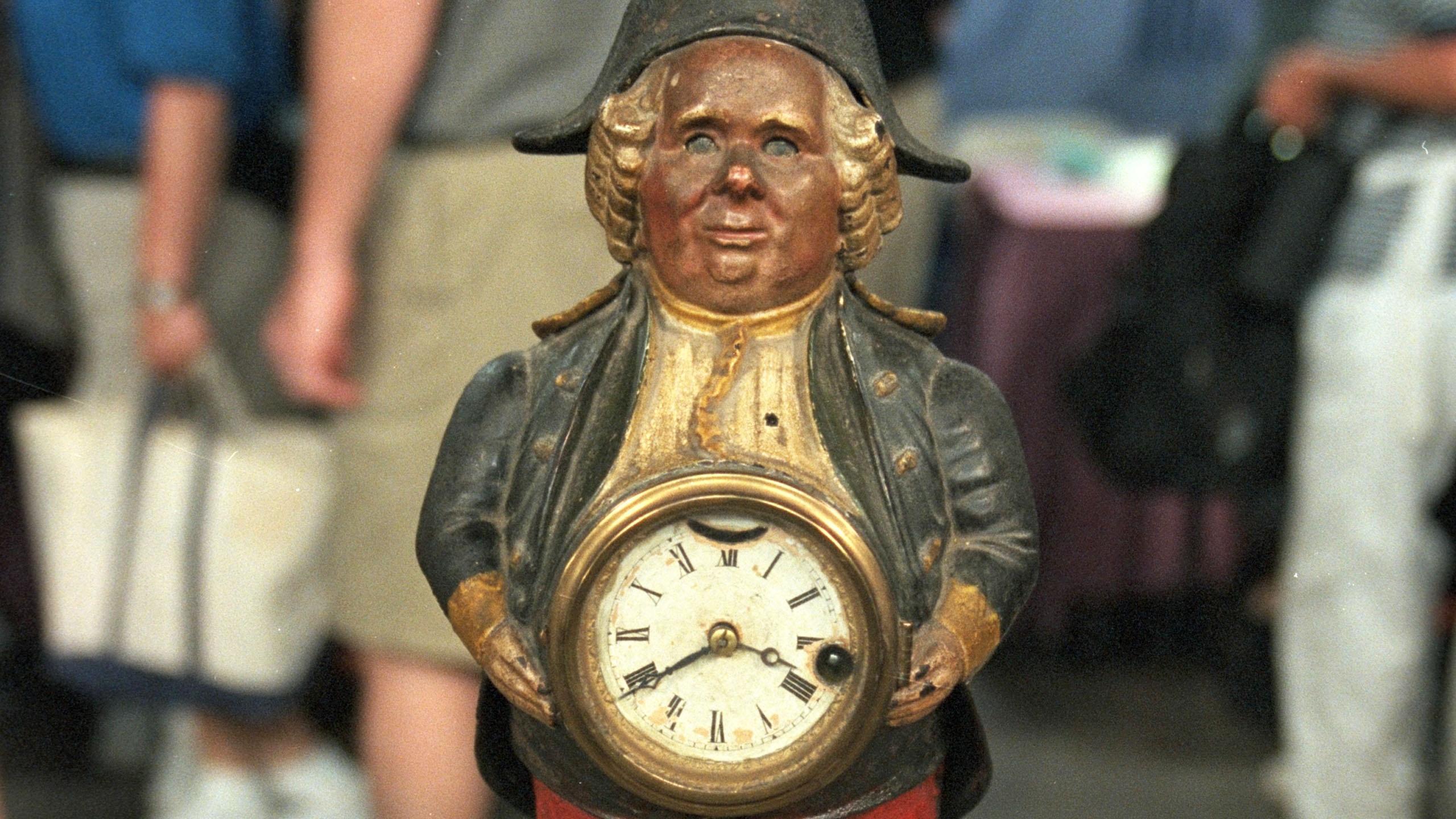 "Appraisal: ""Continental"" Blinking Eye Clock, ca. 1875"