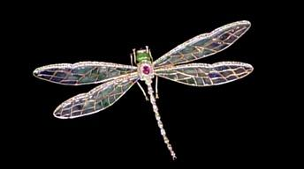 Appraisal: En Tremblant Dragonfly Pin, ca. 1950