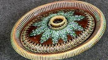 Appraisal: 1862 Victorian Wedgwood Majolica Game Pie Dish